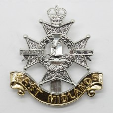 East Midlands University O.T.C. Anodised (Staybrite) Cap Badge