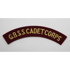 Grenada Boys Secondary School Cadet Corps (G.B.S.S. CADET CORPS) Cloth Shoulder Title