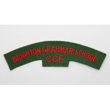 Brighton Grammar School Combined Cadet Force (BRIGHTON GRAMMAR SCHOOL/C.C.F.) Cloth Shoulder Title
