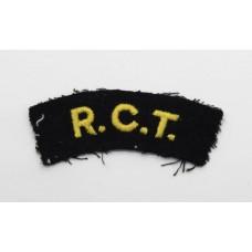 Royal Corps of Transport (R.C.T.) Cloth Shoulder Title