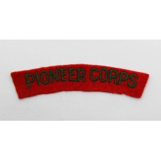Pioneer Corps (PIONEER CORPS) Cloth Shoulder Title