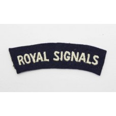 Royal Corps of Signals (ROYAL SIGNALS) Cloth Shoulder Title