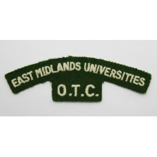 East Midlands Universities Officer Training Corps (EAST MIDLANDS UNIVERSITIES/O.T.C.) Cloth Shoulder Title