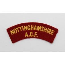 Nottinghamshire Army Cadet Force (NOTTINGHAMSHIRE A.C.F.) Cloth Shoulder Title