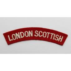 London Scottish (LONDON SCOTTISH) Cloth Shoulder Title