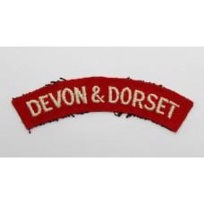 Devon and Dorset Regiment (DEVON & DORSET) Cloth Shoulder Title