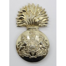 Royal Scots Fusiliers Anodised (Staybrite) Cap Badge - Queen's Cr