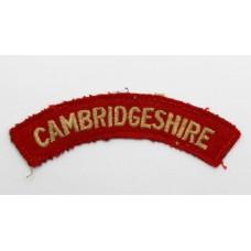Cambridgeshire Regiment (CAMBRIDGESHIRE) Cloth Shoulder Title