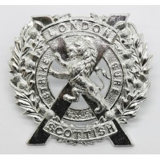 London Scottish Anodised (Staybrite) Cap Badge