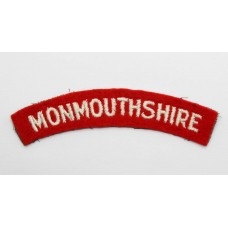 Monmouthshire Regiment (MONMOUTHSHIRE) Cloth Shoulder Title