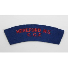 Hereford High School Combined Cadet Force (HEREFORD H.S./C.C.F.) Cloth Shoulder Title