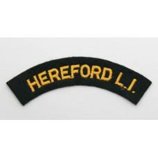 Herefordshire Light Infantry (HEREFORD L.I.) Cloth Shoulder Title
