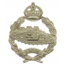 Canadian Tank Corps Cap Badge - King's Crown