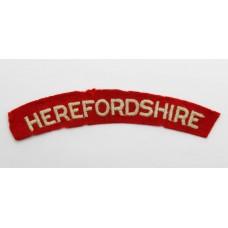 Herefordshire Regiment (HEREFORDSHIRE) Cloth Shoulder Title