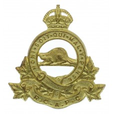 Royal Canadian Army Pay Corps (R.C.A.P.C.) Cap Badge - King's Crown
