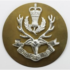 Queen's Own Highlanders Anodised (Staybrite) Cap Badge