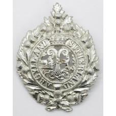 Argyll & Sutherland Highlanders Anodised (Staybrite) Cap Badg