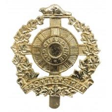 Canadian Legion of Frontiersmen Anodised (Staybrite) Cap Badge
