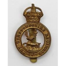 Hertfordshire Regiment Cap Badge - KIng's Crown