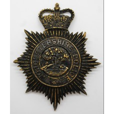 Worcestershire Police Night Helmet Plate - Queen's Crown