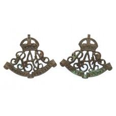 Pair of Royal Australian Artillery Collar Badges - King's Crown