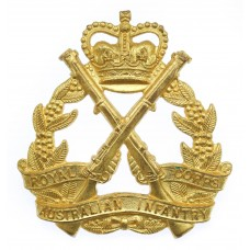 Royal Australian Infantry Corps Hat Badge - Queen's Crown