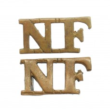 Pair of Northumberland Fusiliers (N.F.) Shoulder Titles