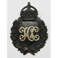 Hampshire Constabulary Black Wreath Helmet Plate - King's Crown