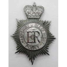 Hampshire and Isle of Wight Police Helmet Plate - Queens Crown