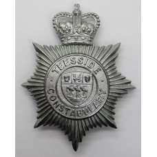 Teesside Constabulary Helmet Plate - Queens Crown