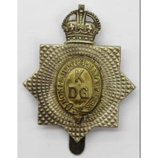 1st King's Dragoon Guards Cap Badge - King's Crown