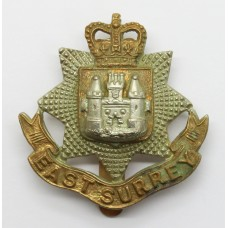 East Surrey Regiment Cap Badge - Queen's Crown