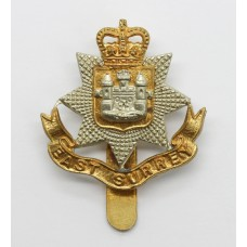 East Surrey Regiment Beret Badge - Queen's Crown