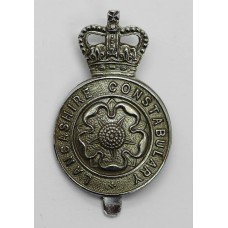 Lancashire Constabulary Cap Badge - Queens Crown