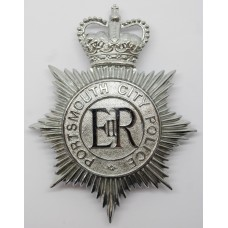 Portsmouth City Police Helmet Plate - Queen's Crown