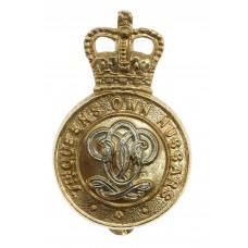 7th Queen's Own Hussars Anodised (Staybrite) Cap Badge - Queen's