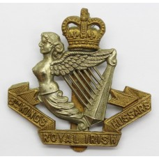8th King's Royal Irish Hussars Cap Badge - Queen's Crown