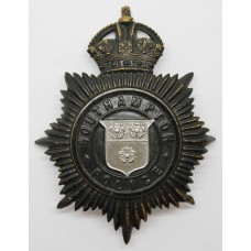 Southampton Police Night Helmet Plate - King's Crown