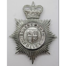 Bournemouth Police Helmet Plate - Queen's Crown
