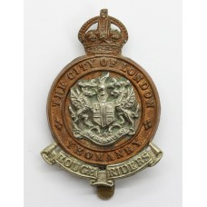 City of London Yeomanry (Rough Riders) Cap Badge - King's Crown