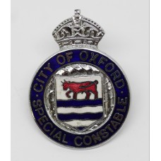 City of Oxford Special Constable Enamelled Lapel Badge - King's C