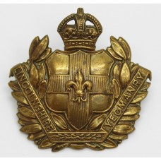 Lincolnshire Yeomanry Cap Badge - King's Crown