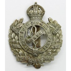 Queen's Own Dorset Yeomanry Cap Badge - King's Crown