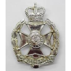 Leeds Rifles Anodised (Staybrite) Cap Badge - Queen's Crown