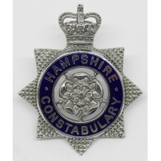 Hampshire Constabulary Senior Officer's Enamelled Cap Badge - Queen's Crown