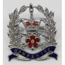 Hampshire Constabulary Sergeant's Cap Badge - Queen's Crown