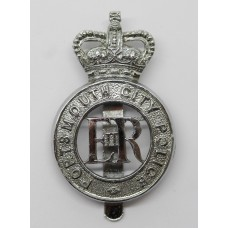 Portsmouth City Police Cap Badge - Queen's Crown