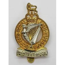 Queen's Royal Irish Hussars Bi-Metal Cap Badge - Queen's Crown