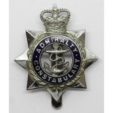 Admiralty Constabulary Senior Officer's Enamelled Cap Badge - Queen's Crown