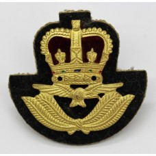 Royal Air Force (R.A.F.) Warrant Officer's Cap Badge - Queen's Crown